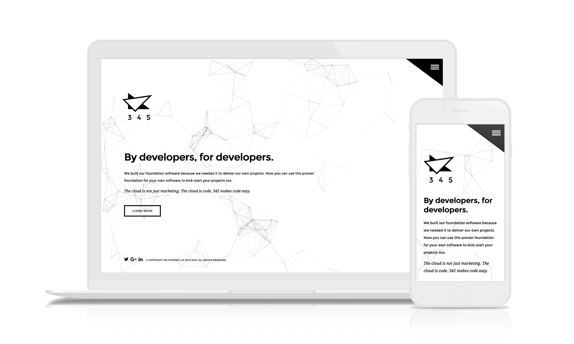 www.345.systems site design