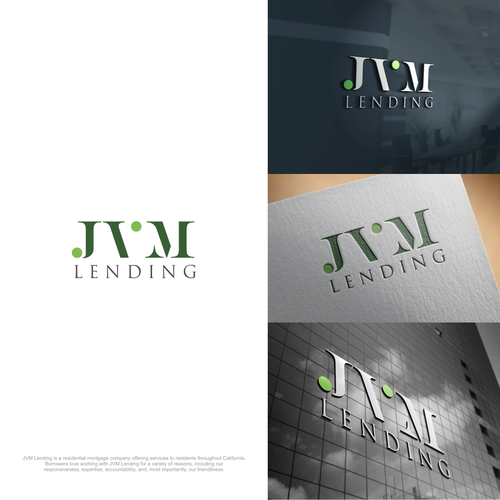 Design a logo for a growing, modern California mortgage company: JVM Lending.