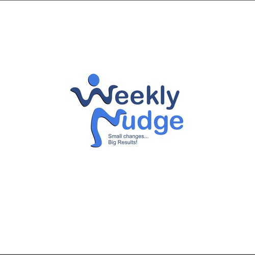 """WeeklyNudge"" logo design for goal achievement website."