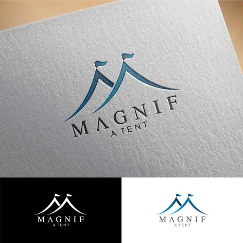 Elegant upscale logo design for tent and event rental company