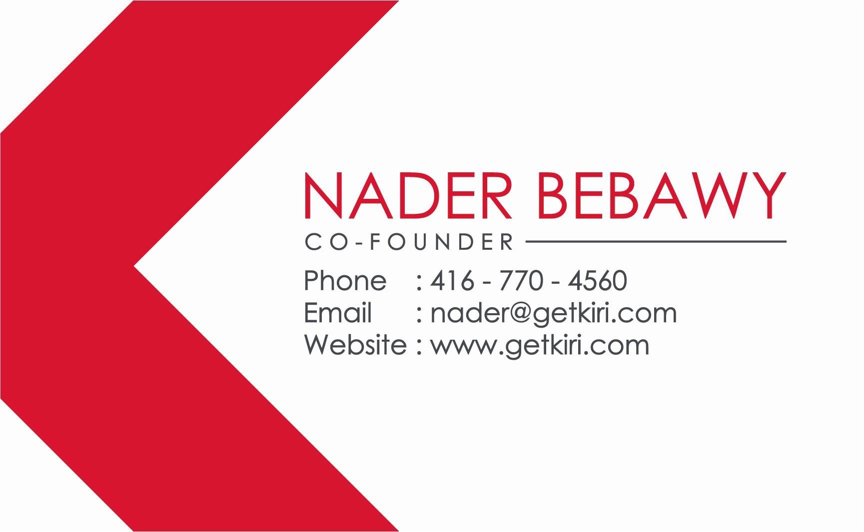Kiri Business Card Design