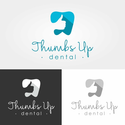 """Thumbs Up Dental"" logo concept"