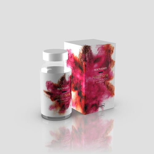 A vivid packaging for a Health Kandy - Skinphoria