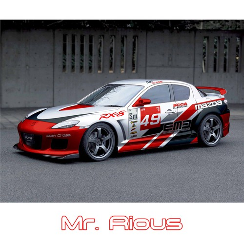 Design a race car wrap for MAZDA RX-8