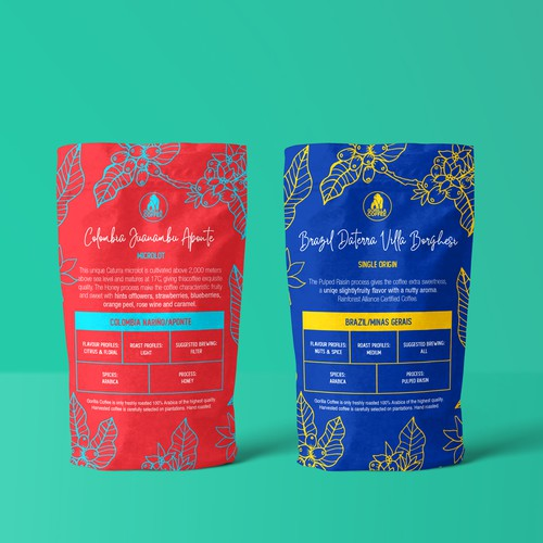 Illustrated Coffee Packaging Concept
