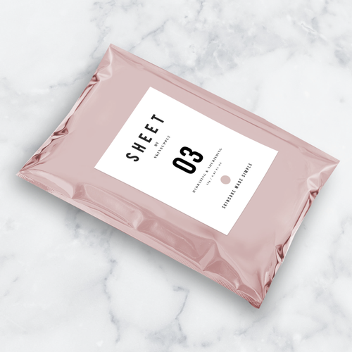 SKIN CARE POUCH LABEL & LOGO DESIGN