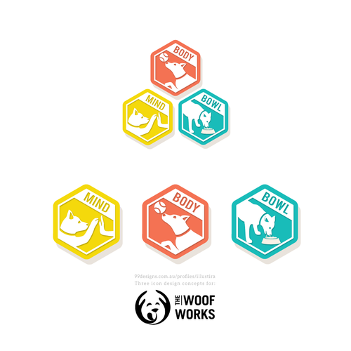 Connectible Icon Design for the Woof Works
