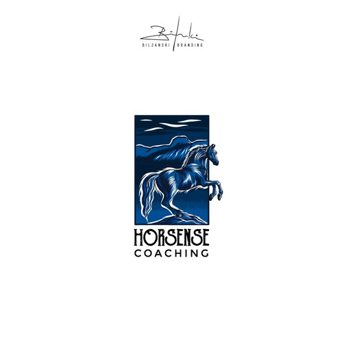 Horse coaching logo