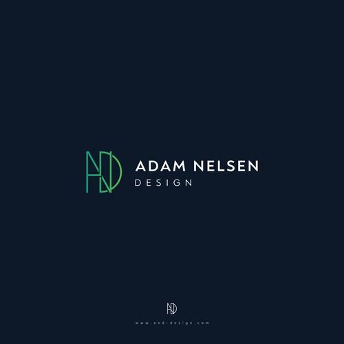 intial logo design concept for interior design business