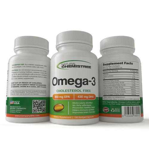 Attention creative designers - New Omega 3 Supplement product label to be designed!!