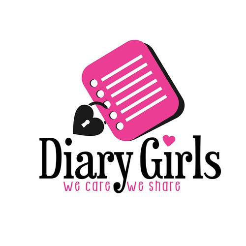Logo for app of girl diary