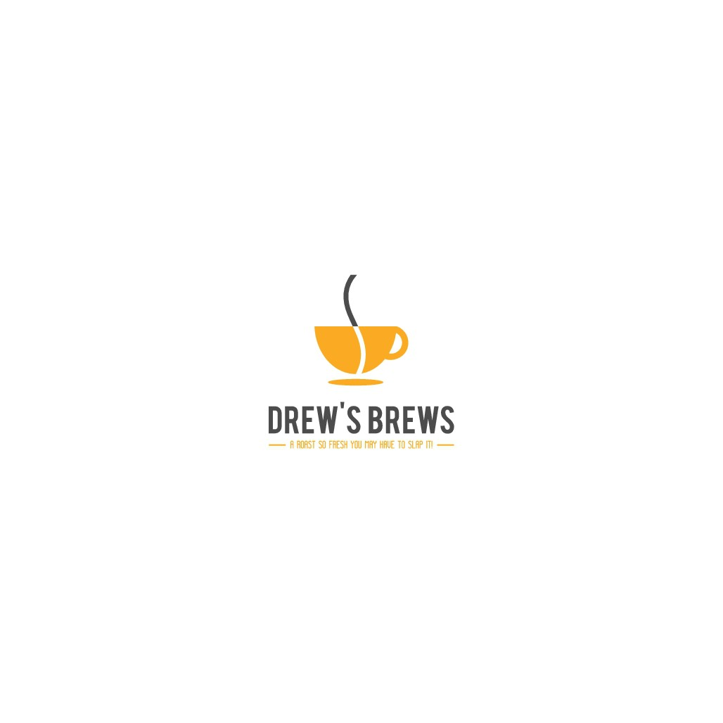 Design cool, hip yet compelling logo for Drew's Brews micro-roast coffee.