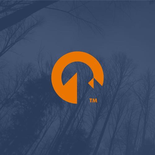 O for Outdoor! Outdoor wear logo concept.