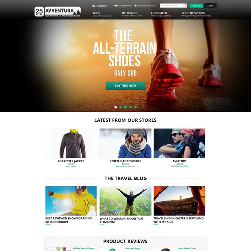 Web design for an outdoor style webshop!!