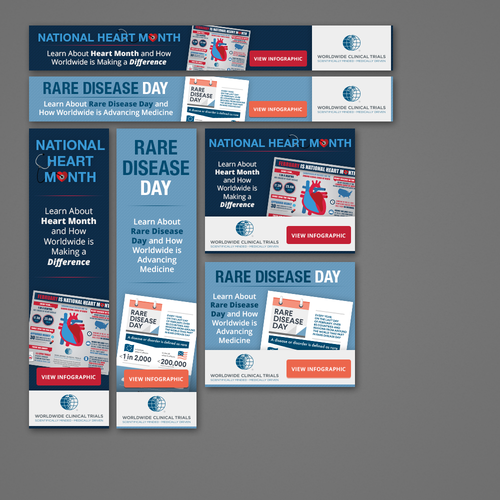 Banner ads for a clinical trial company