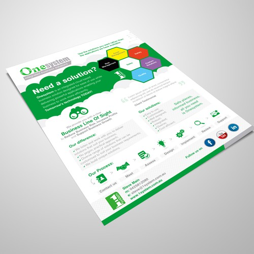 Cloud based business solutions brochure