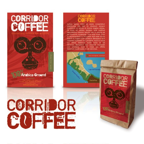 Coffee Label for Non-profit doing Wildlife Conservation