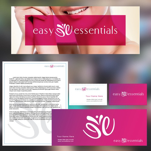 logo and stationery for cosmetics brand