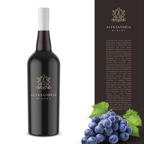 Logo design for vinery