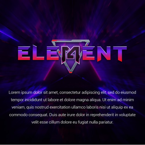 Futuristic Style Logo for Gaming Company