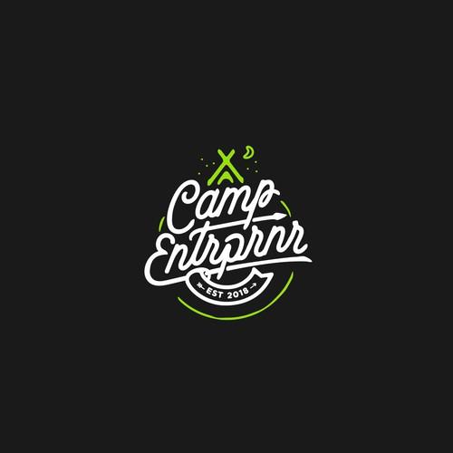 Camp Entrprnr (Camp Entrepreneur) typography logo