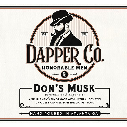 Dapper Co. Scented Candle Label Design