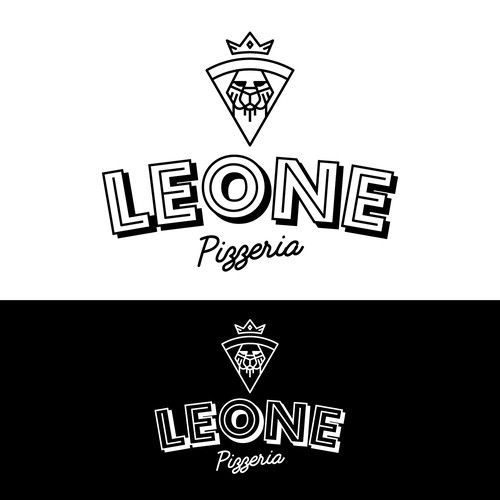 Monoline Logo For Pizzeria