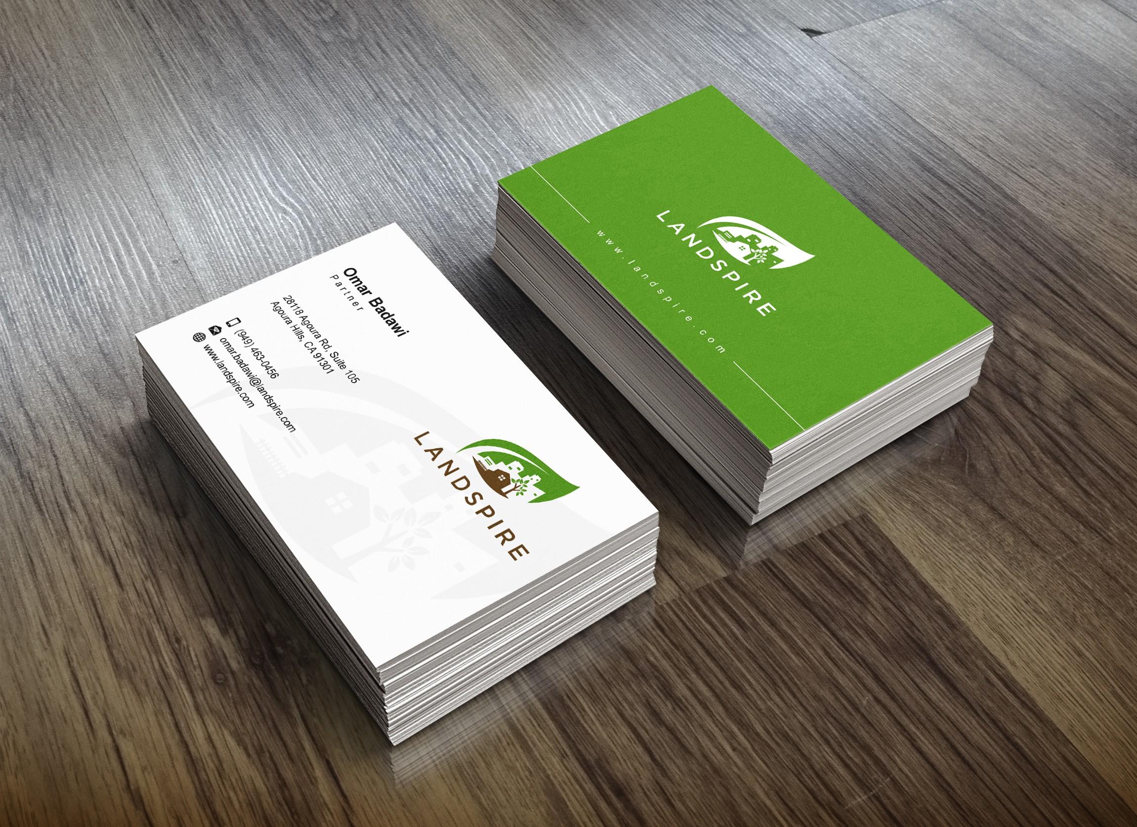 Business Card Design for Landspire