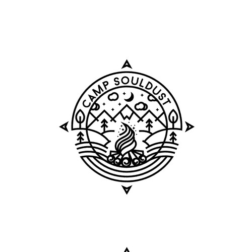 Elegant Scenery Logo design for Magic in The Forest Camp Souldust
