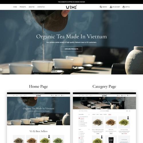 Minimal Webshop Design For A Tea Company