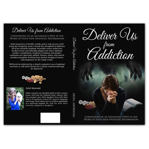 Book Cover Design for Ariel Abornski's Deliver Us from Addiction