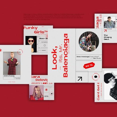 Balenciaga Social Media Redesign