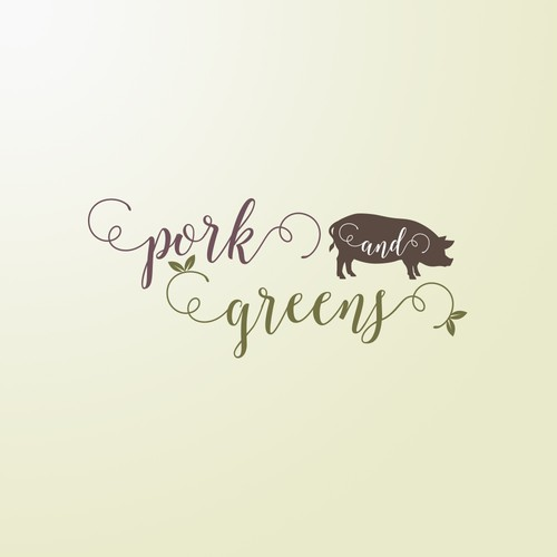 Pork & Greens Logo