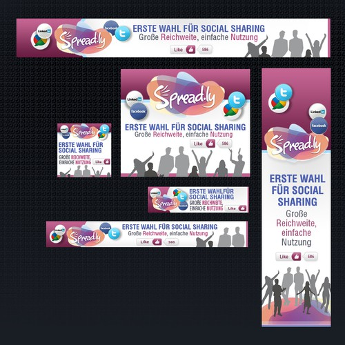 Banner Ads for a new social sharing service