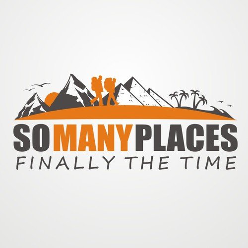 Logo design for an around-the-world travel blog/website