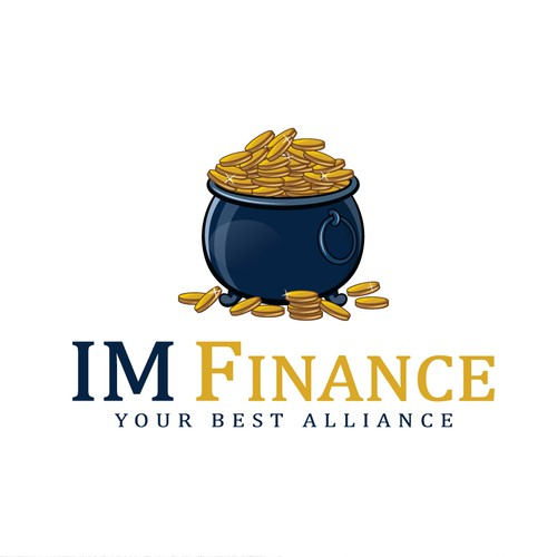 Full gold coins of pot Logo for IM Finance