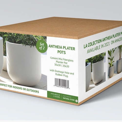 Planter Pots Box Packaging