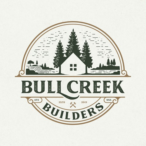 Logo design for Bull Creek Builders