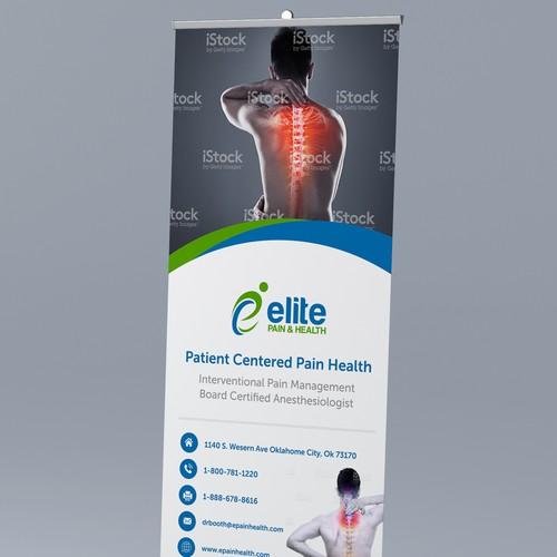Modern neck & back pain banner layout
