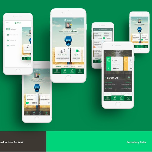 contest won, a design for banking app
