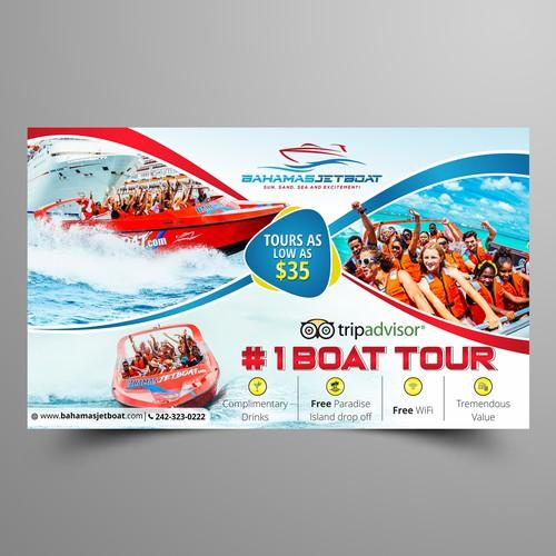 Bahamas Jetboat Poster