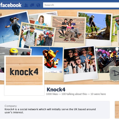 New Social Network requires Facebook page design, ready for launch.