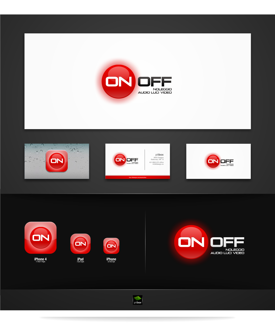 Create the next logo for on off