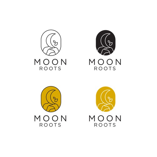 Moon Roots Logo Design