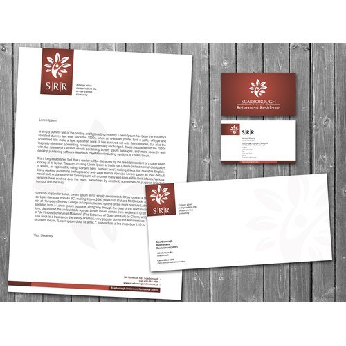 stationery for Scarborough Retirement Residence (SRR)