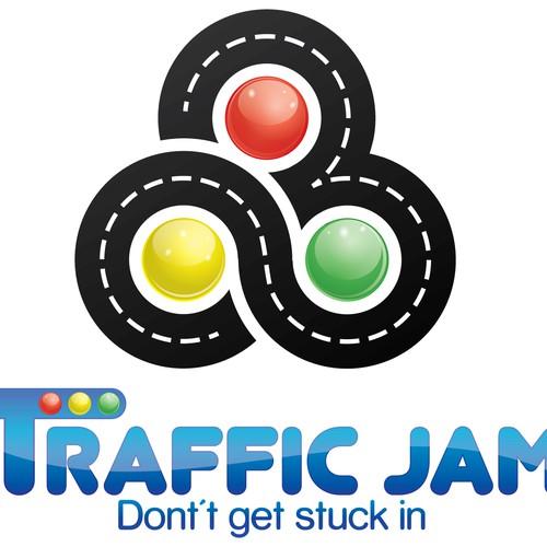 Create a winning traffic update logo...
