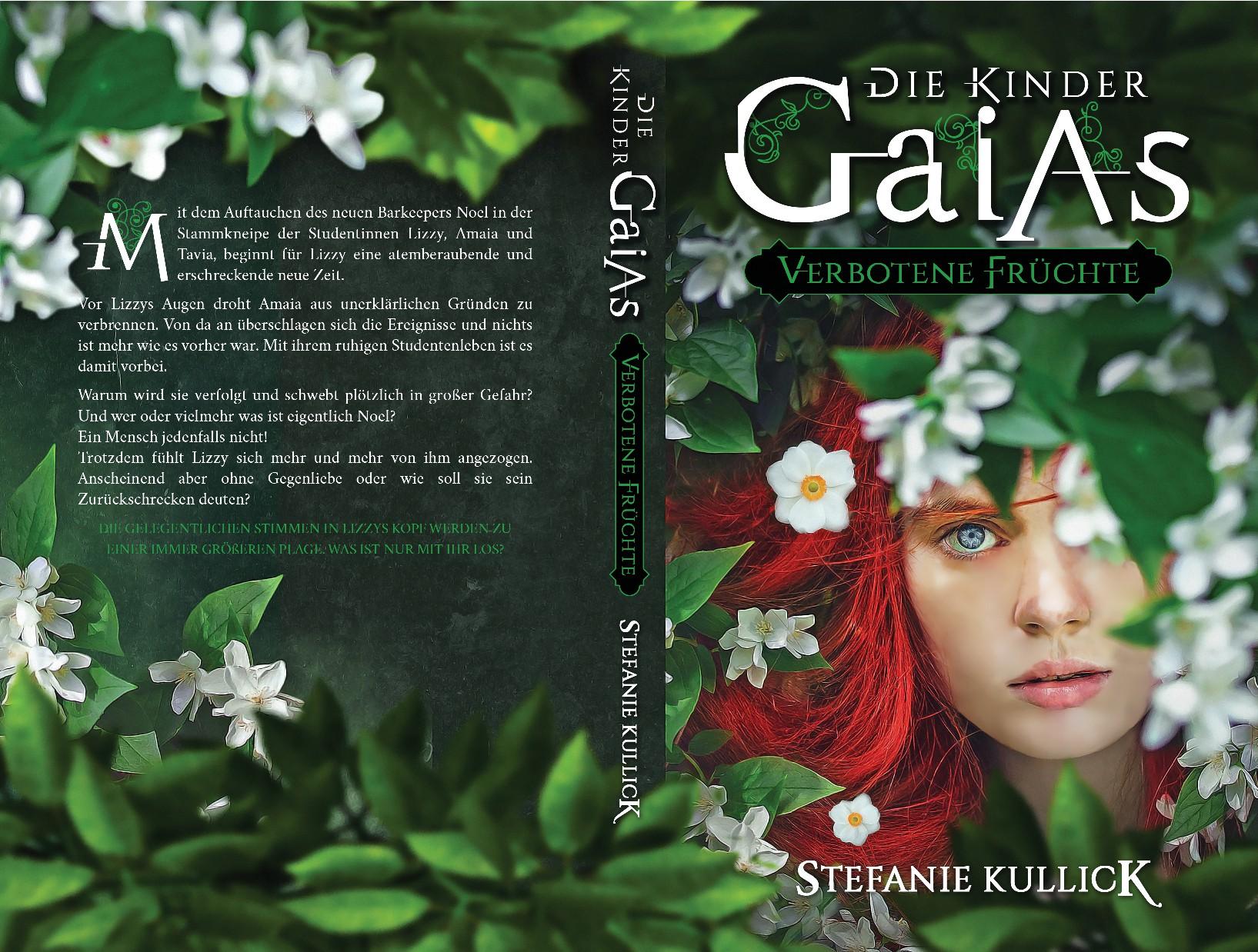Design a floral book cover for a fantasy novel