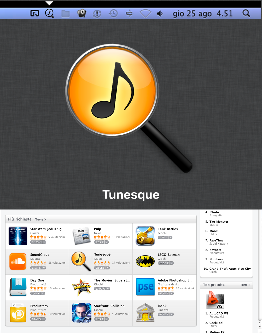 Icon for OS X Lion iTunes search app