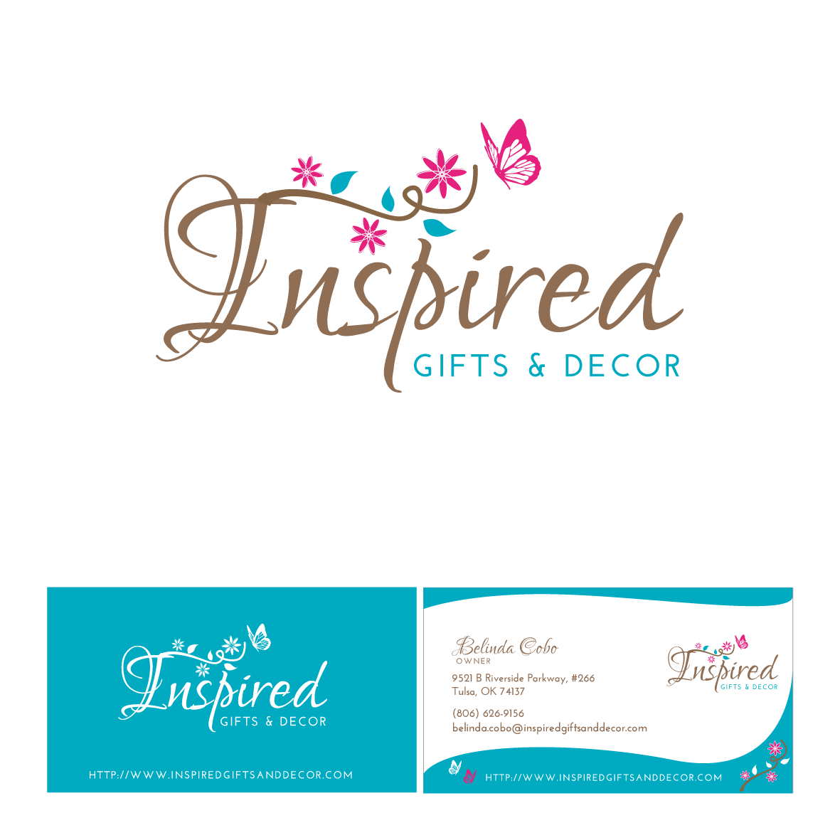 New logo and business card wanted for Inspired Gifts & Decor