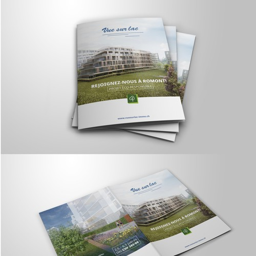 Brochure for real estate promotion to sell of eco-friendly built homes
